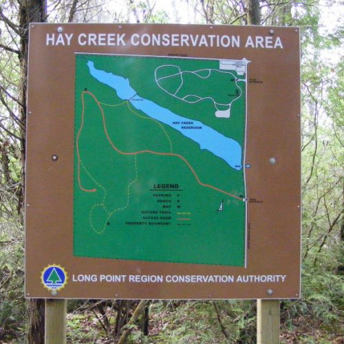 Hay Creek Conservation Sign