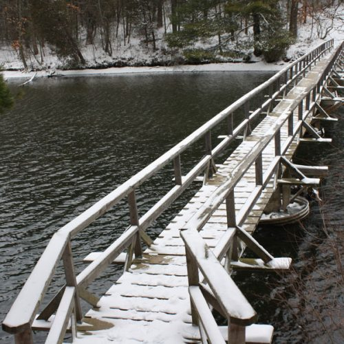 Bridge over Hay Creek in Winter