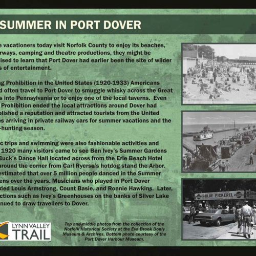 Summers at Port Dover historical information sign