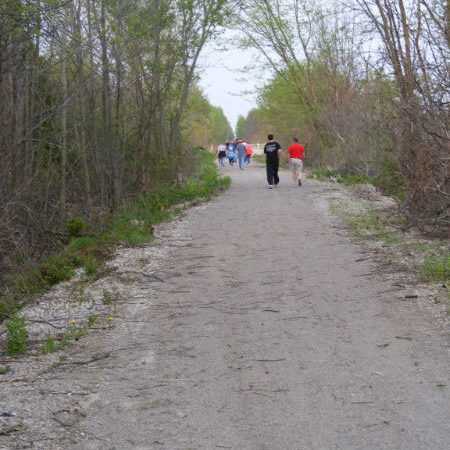 Wide trail at Delhi Rail Trail