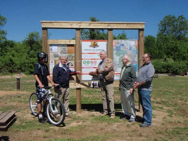 Trail ribbon cutting